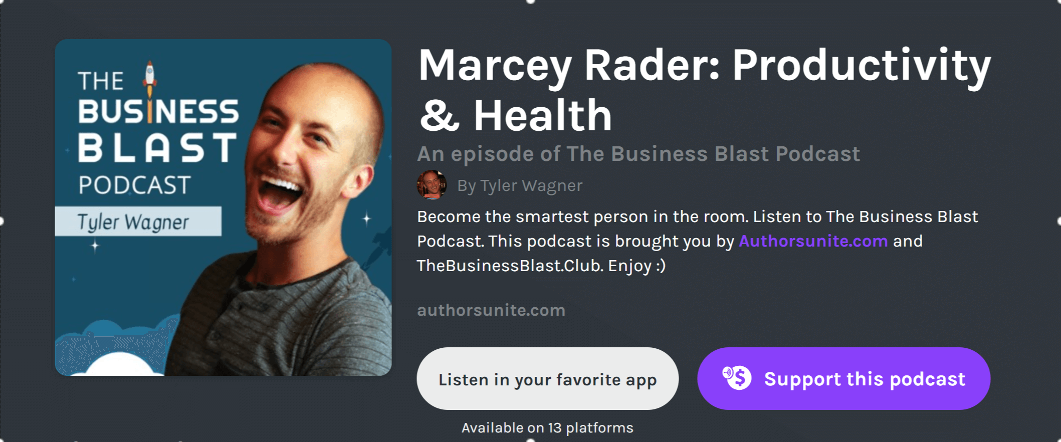 Marcey Rader: Productivity & Health